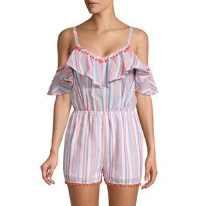 Anthropologie Moon River Striped Romper Size M NWT